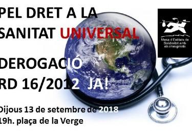 Concentració pel Dret a la Sanitat Universal