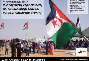 Inauguració de la Plataforma Valenciana de Solidaritat amb el Poble Sahrauí