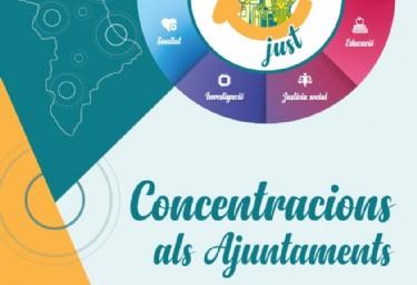Concentració als Ajuntaments per un