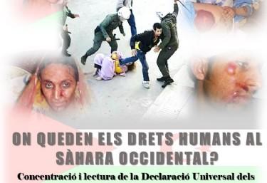 Concentració i lectura de la Declaració Universal dels drets humans  -Dia Internacional de los Derechos Humanos