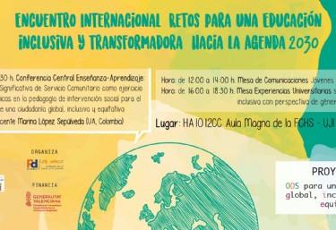 Encuentro Internacional: Retos para una Educación inclusiva y transformadora hacia la Agenda 2030