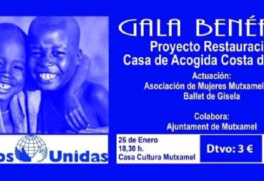 Gala benéfica: proyecto de restauración casa de acogida en Costa de Marfil