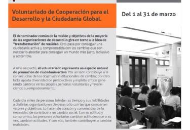 Curso Online: Voluntariado de Cooperación para el Desarrollo y la Ciudadanía Global
