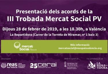 Presentació acords de posada en marxa Mercat Social PV