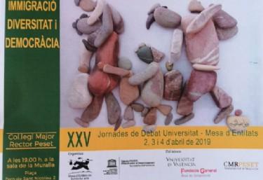 XXV Jornades de debat IMMIGRACIÓ, DIVERSITAT I DEMOCRÀCIA