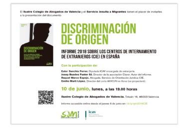 Presentación del informe Discriminación de origen