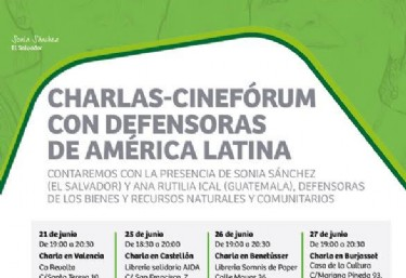 Charlas-Cinefórum con defensoras de América Latina