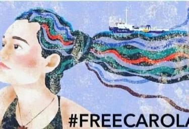 Rescatar No es un crimen-Concentración por la liberación de Carola Rackete
