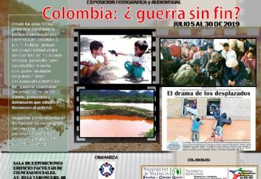 Exposición fotografica y audiovisual: Colombia: ¿guerra sin fin?