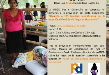 Video Fórum  Hacia una ayuda humanitaria sostenible: Atención a 125 familias damnificadas por la erupción del volcán de fuego en Guatemala.