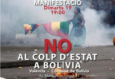 Manifestació No al colp d´estat a Boíivia