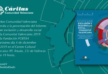 Presentación Informe FOESSA sobre exclusión y desarrollo social en la Comunitat Valenciana