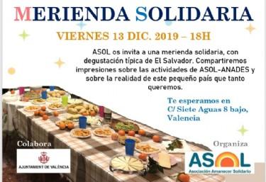 Merienda Solidaria con degustación típica de El Salvador