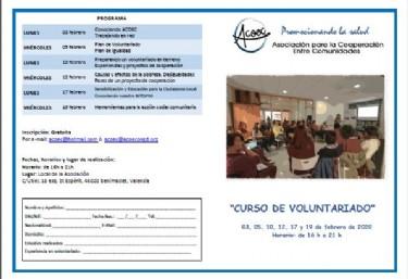 Curso de Voluntariado (Febrero 2020)