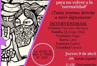 """Encuentro virtual: Economía Feminista, para no volver a la """"normalidad"""""""