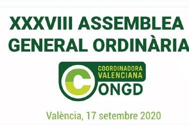 Convocatòria de la XXXVIII Assemblea General Ordinària de la CVONGD