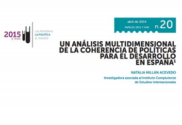 Informe: Un análisis multidimensional de la coherencia de políticas para el desarrollo en España