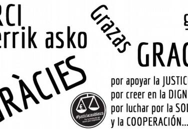 La Coordinadora Valenciana de ONGD agradece el apoyo de la Ciudadanía para continuar en el Caso Blasco