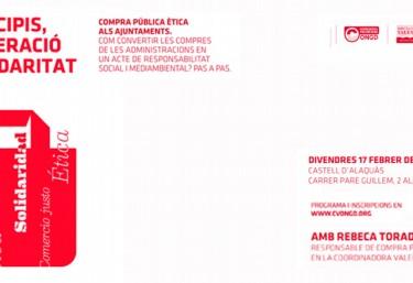 """Curs en Alaquàs: """"Compra pública ètica als ajuntaments: Com convertir les compres de les administracions en un acte de responsabilitat social i mediambiental"""""""