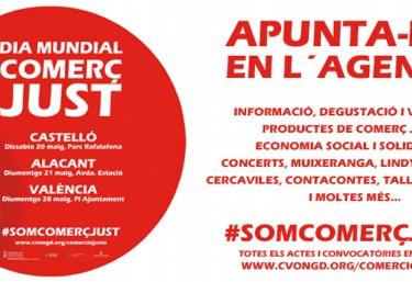 APUNTA-HO en l´AGENDA: DIA MUNDIAL DEL COMERÇ JUST en la Comunitat Valenciana