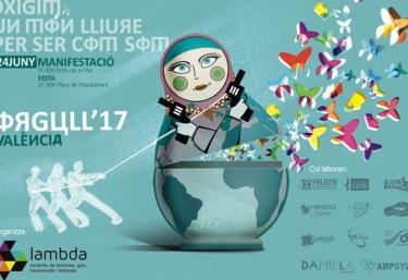 Celebració i reivindicació de l'Orgull Lèsbic, Gai, Transsexual i Bisexual a València