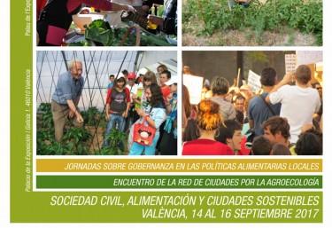 Abierta inscripcion en las Jornadas 'Sociedad civil, alimentación y ciudades sostenibles',