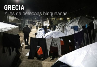 Emergencias. Salva vidas. Cada segundo cuenta Buscando refugio - Camino - Grecia, miles de personas bloqueadas