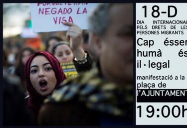 """La CVONGD y Pobresa Zero se adhieren a la convocatoria de actos del Día Mundial de la personas migrantes  en especial la """"Decima Marcha por el cierre del CIE"""" el lunes 18 de diciembre"""