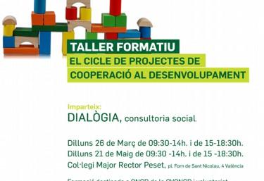 FORMACIÓ INTERNA: Taller formatiu sobre el cicle de projectes de cooperació al desenvolupament