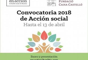 Convocatoria de Ayudas de  Fundación Caja Castellón y Bankia para la realización de proyectos de Acción Social 2018
