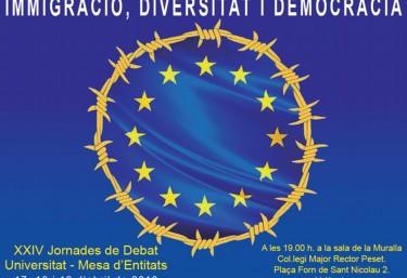 """XXIV Jornades de debat """"Inmigració, diversitat i democràcia"""""""