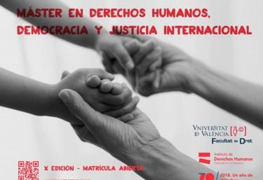 Abierta la matrícula para la X edición del Máster en Derechos Humanos, Democracia y Justicia Internacional