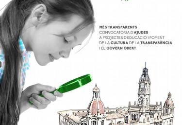 Ajuntament de València: Ajudes a projectes d´educació i foment de la cultura de la Transparència i el  govern obert 2018..