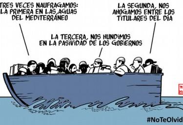 10 ONG y 30 artistas gráficos reclamamos con viñetas que las personas refugiadas no caigan en el olvido