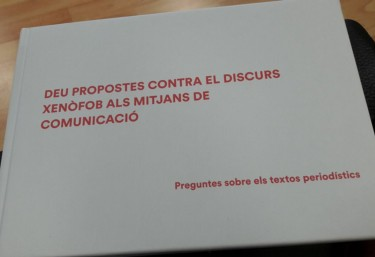 """Unió de Periodistes: """"Deu propostes contra els discurs xenófobs del mitjans de comunicació"""""""
