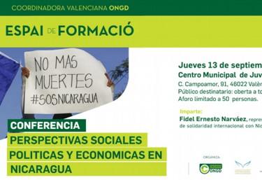 Conferencia sobre las perspectivas sociales, políticas y económicas de Nicaragua a partir del 19 de abril