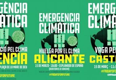 Hacemos un llamamiento a las organizaciones y personas a participar en las movilizaciones mundiales por el clima #FridaysForFuture