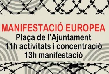 """La CVONGD y Pobresa Zero se adhieren a la convocatoria de la Manifestación Europea """"5M el abrazo de los pueblos"""""""