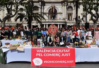 València celebra este sábado su estreno como 'Ciudad por el Comercio Justo' con una gran fiesta