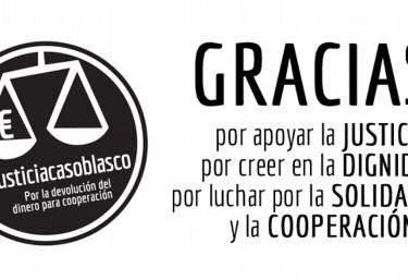 La Coordinadora Valenciana de ONGD agradece de nuevo el apoyo de la ciudadanía en el #CasoBlasco
