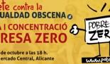 Movilizaciones POBRESA ZERO 2017 en Alicante