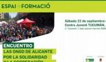 ENCUENTRO: Las ONGD de Alicante por la solidaridad y la cooperación