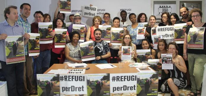 82 organizaciones valencianas convocan movilizaciones en defensa del derecho de refugio