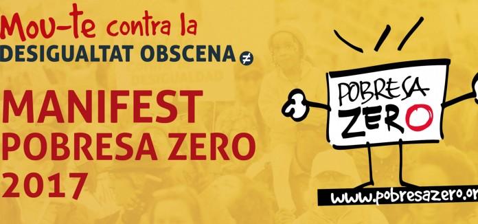 Manifest POBRESA ZERO en el Dia Mundial per l'eradicació de la pobresa. 17 d'octubre de 2017
