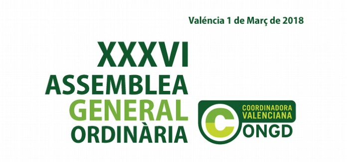 Convocatòria de la XXXVI Assemblea General Ordinària de la CVONGD