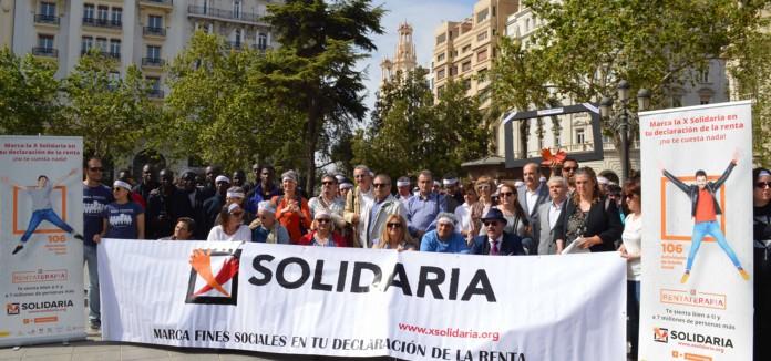 Las entidades sociales alientan a los valencianos a marcar la 'X Solidaria' en la renta