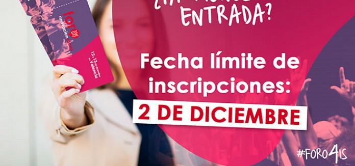 AMPLIADO el Plazo de inscripción hasta el 2 de diciembre en el IV Foro Internacional de Innovación Social