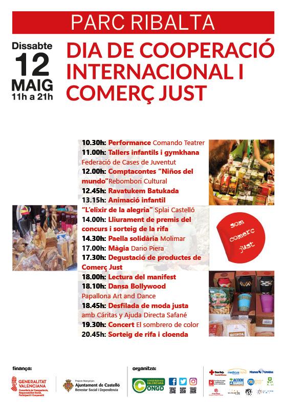 Resultado de imagen de DIA DE LA COOPERACIÓ INTERNACIONAL I EL COMERÇ JUST EN CASTELLÓ Parc Ribalta de Castelló