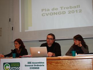 ASAMBLEA 2012: La Coordinadora Valenciana de ONGD acuerda impulsar la transformación de las políticas de cooperación.