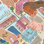 Ilustración de Gisela Talita sobre la cooperación entre pueblos